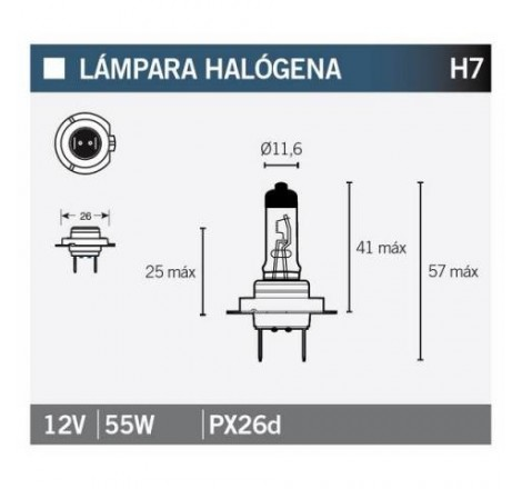 LAMPARA HALOGENA H7
