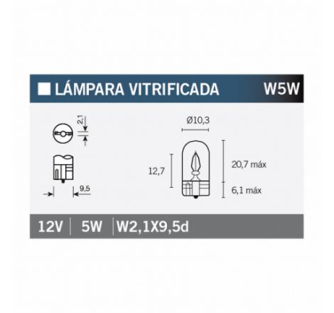 LAMPARA 12V5W W5W