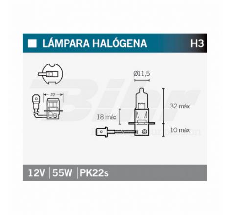 LAMPARA HALOGENA H3
