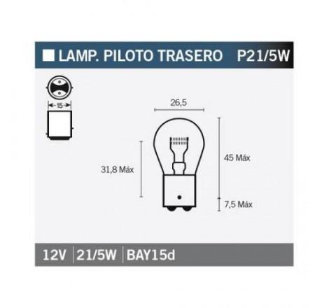 Lámpara OSRAM 7528 P21/5W