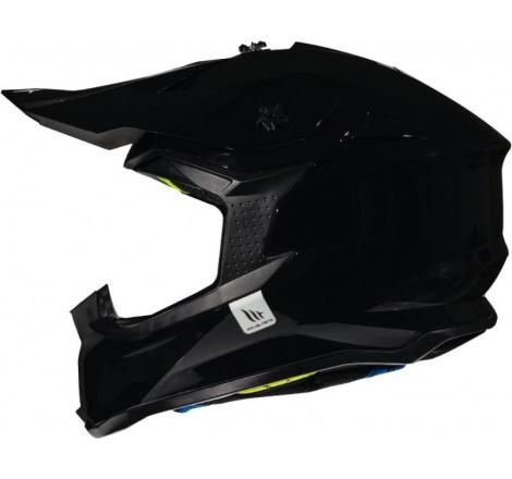 Casco MT Falcon Solid A1 Negro brillo Portada