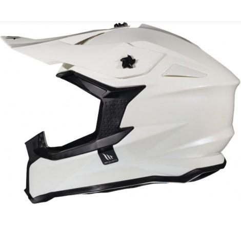 Casco MT Falcon Solid A0 Pearl Blanco Brillo Portada